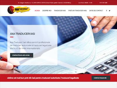axa traduceri - realizare site web