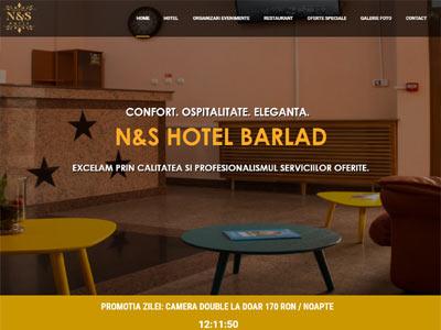 NS HOTEL BARLAD - realizare site web