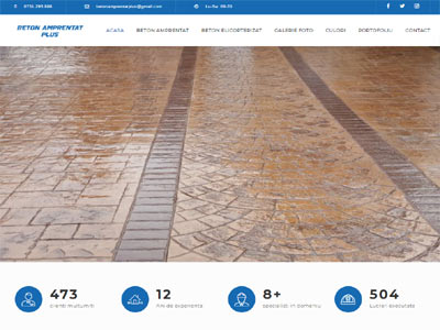 Beton Amprentat Plus - creare magazin online