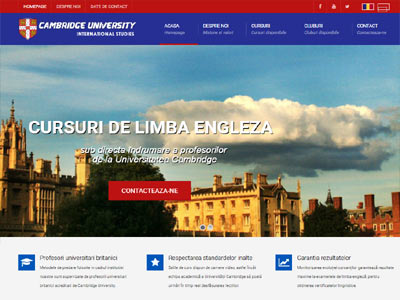 Cambridge - realizare site web