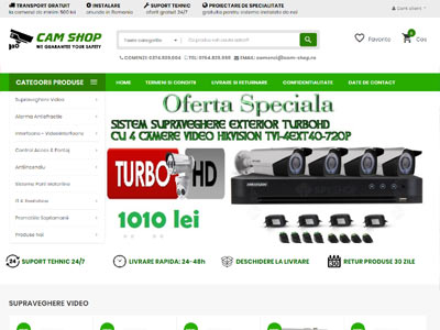 CAM SHOP - creare magazin online