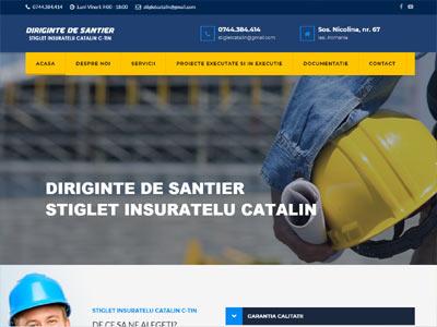 diriginte santier - realizare site web