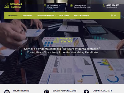 Financiar Contact - realizare site web