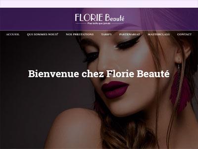 floriebeaute.fr - realizare site web