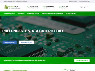 Green Bat- realizare site web