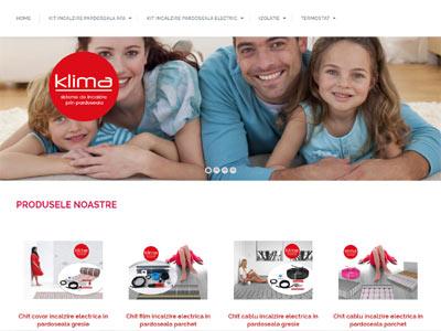 KLIMA INCALZIRE - realizare site web