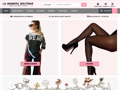 LA MANERA BOUTIQUE - creare magazin online