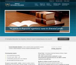 realizare site web avocat Antoaneta Solomon