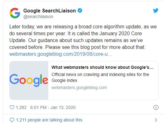 promovare web Google update