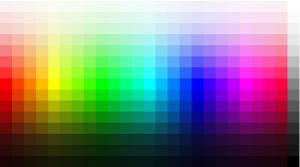 coduri de culoare RGB si html